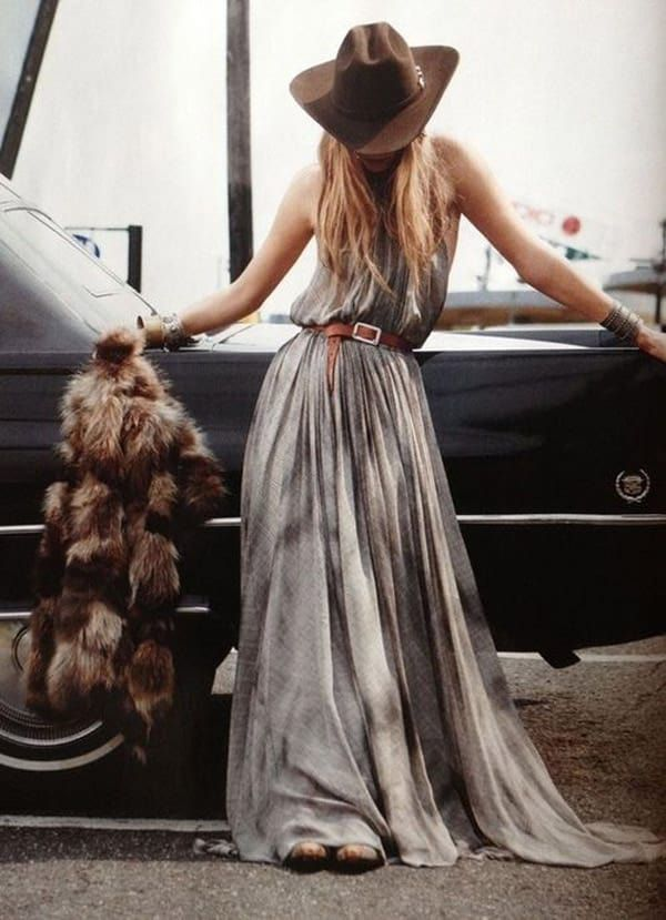 Long-maxi-dress-and-hat