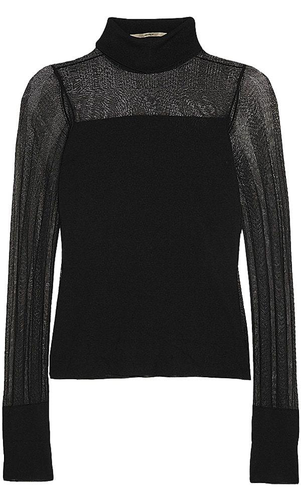 ROLAND-MOURET-Paneled-stretch-knit-turtleneck-top-$841