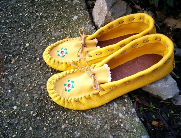 Cowgirl - beaded moccasins