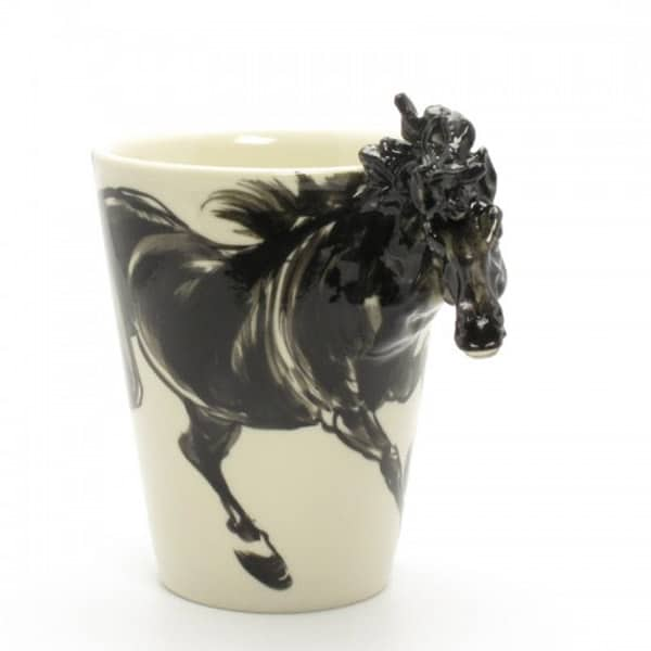 Black-horse-ceramic-coffee-cup