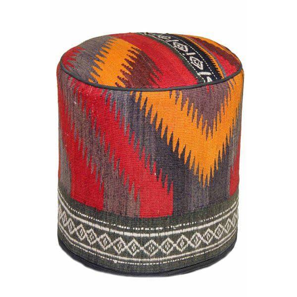 Hand-woven-Western-style-Pouf-Ottoman