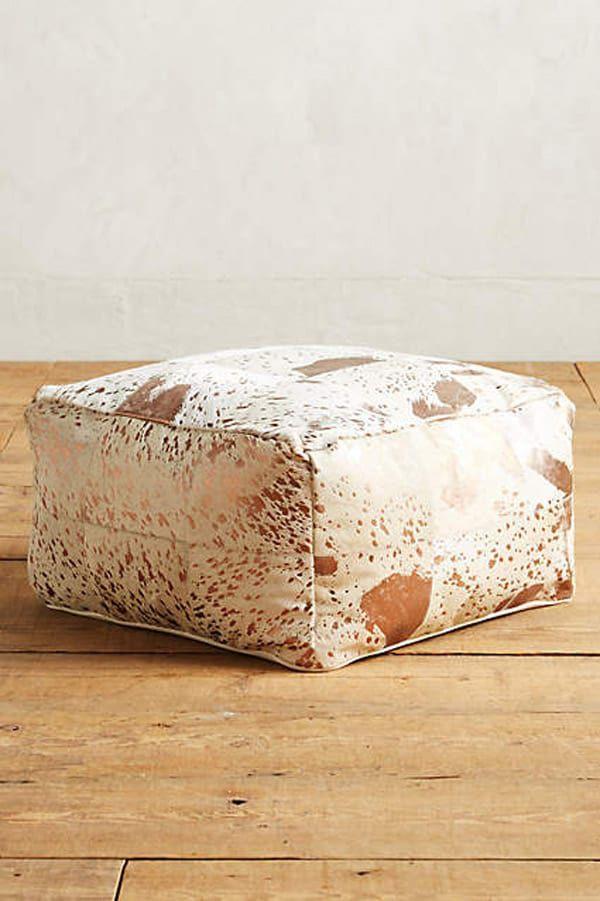 Metallic-patchwork-pouf