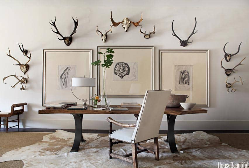 cowhide rug office home