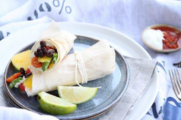 Mango-and-black-bean-breakfast-burrito