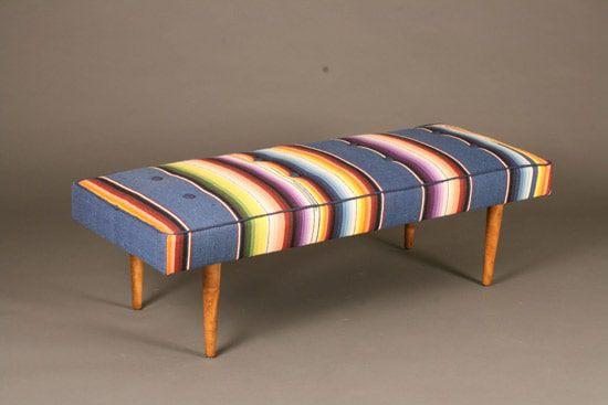 Serape-covered-bench
