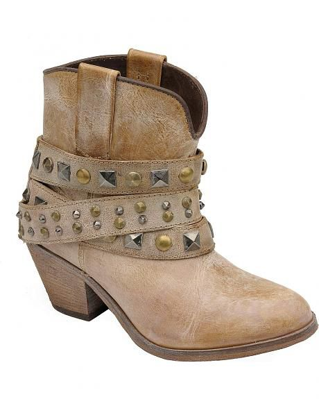 corral-studded-leather-bootie