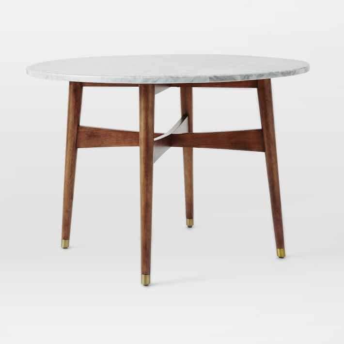 Home On The Ranch Marble Furniture We Love Page Of Cowgirl - West elm marble dining table