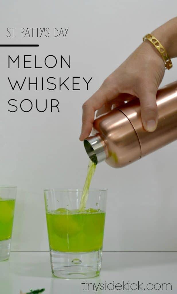 melon-whiskey-sour