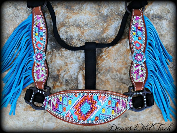 Chevron-aztec-turquoise-fringe-halter