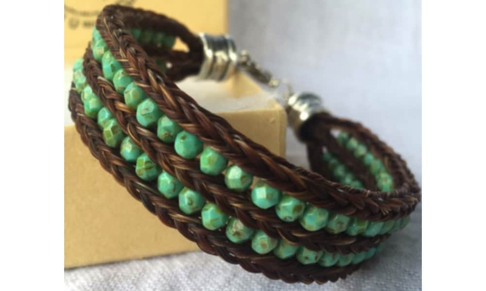 Horse hair bracelets by SC Equine