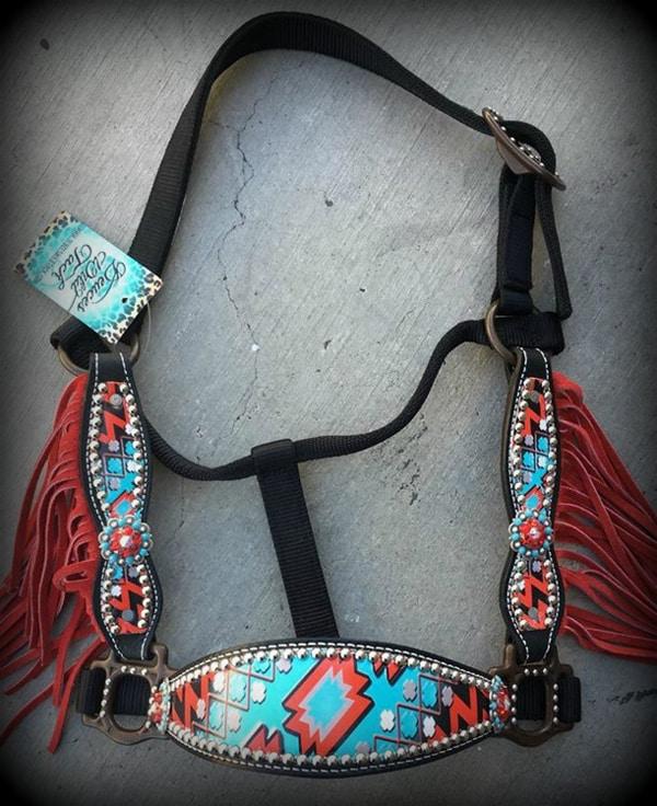 red-aztec-halter