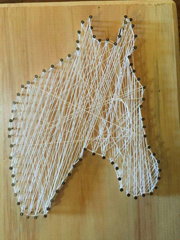 Horse-string-art