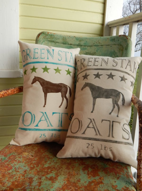 feedsack-horse-pillow-covers