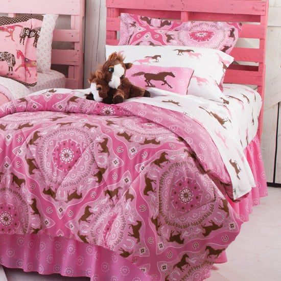 pink pony bedding
