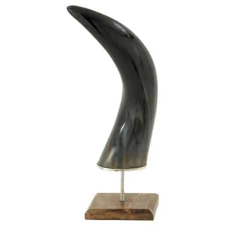 wood metal horn on base