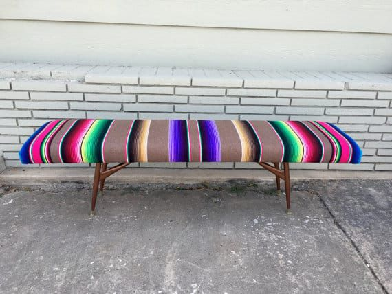 Mexican upholstered bench