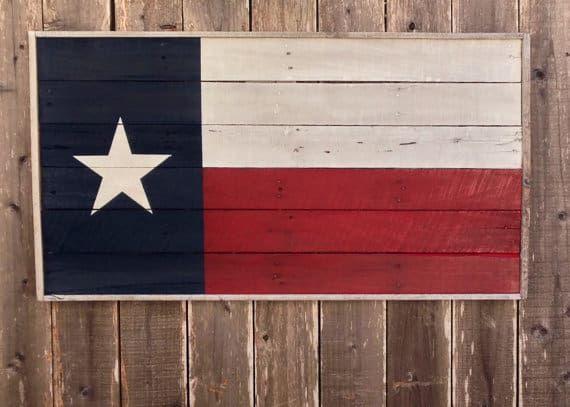 Texas flag sign