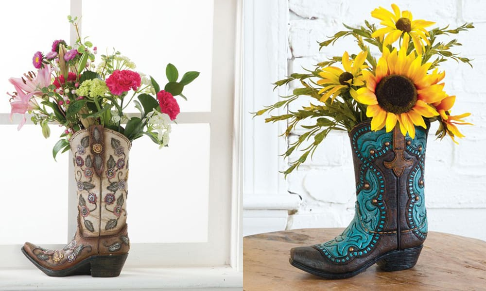 Glass Cowboy Boot Vases Vase And Cellar Image Avorcor