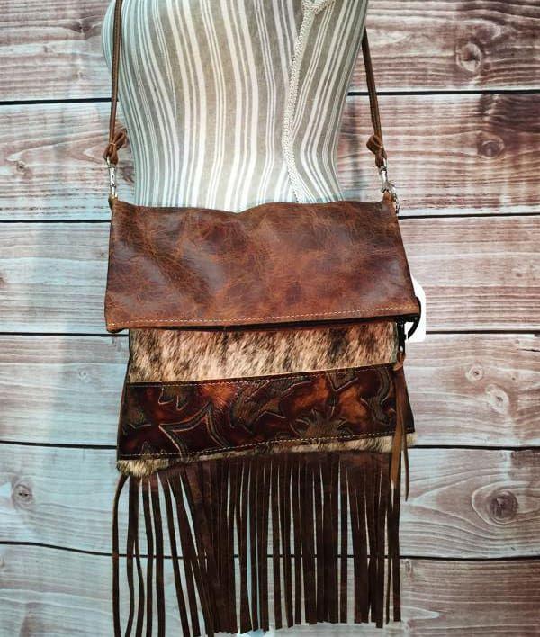 Cowgirl - Cowhide Fringe Bag