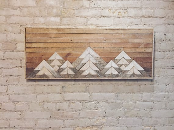 reclaimed wood wall hanging
