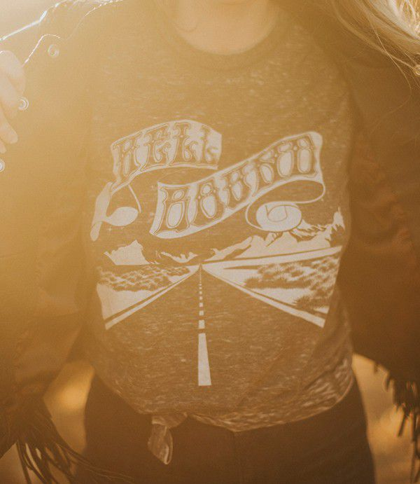 motorcycle hell bound graphic tee