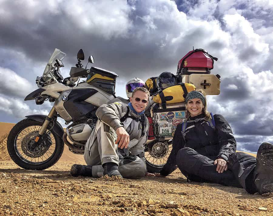 Ty Murray and Paige Duke Mescalero Sand Dunes New Mexico