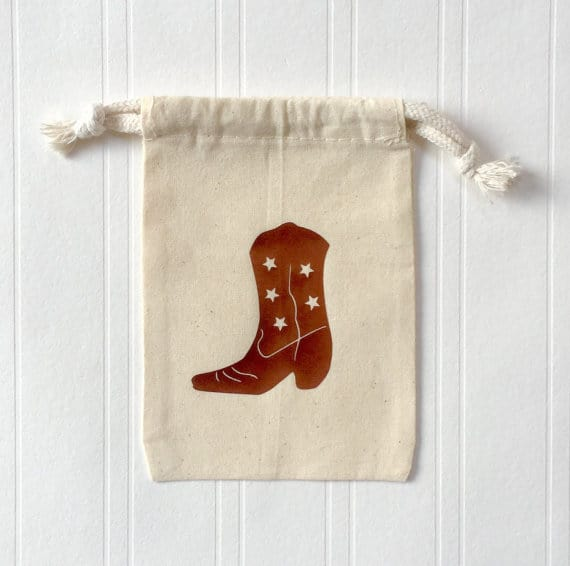 cowboy boot favor bag