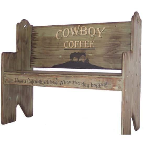 cowboy coffee bench