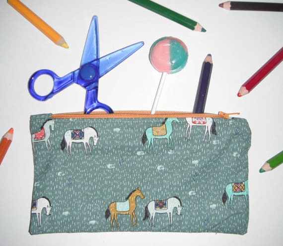 grazing horse pencil case
