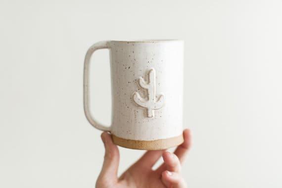 handmade cactus mug