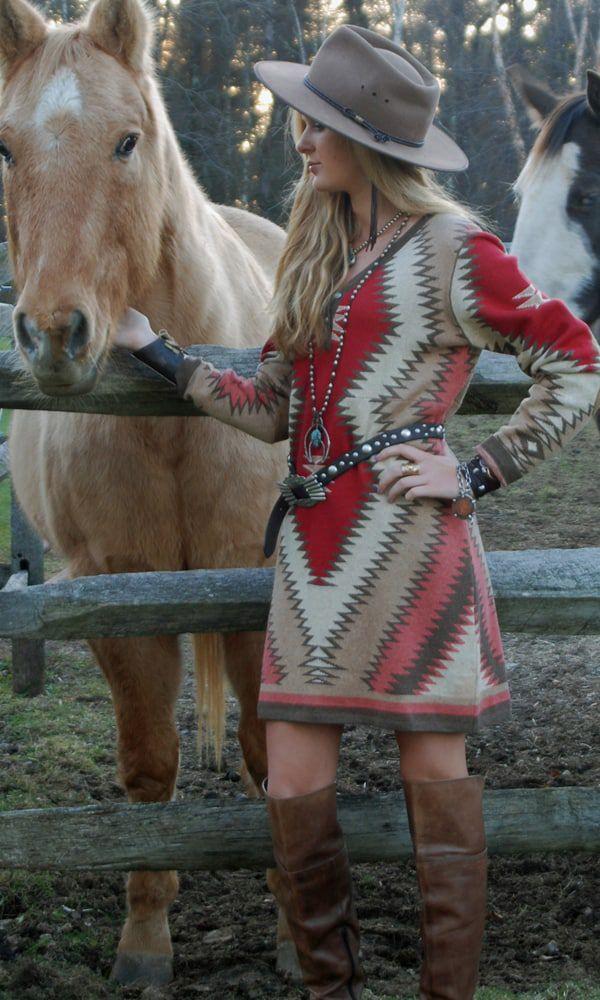 southwestern sweater dress
