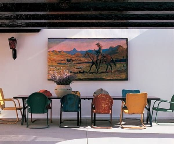 western-art-in-the-dining-room