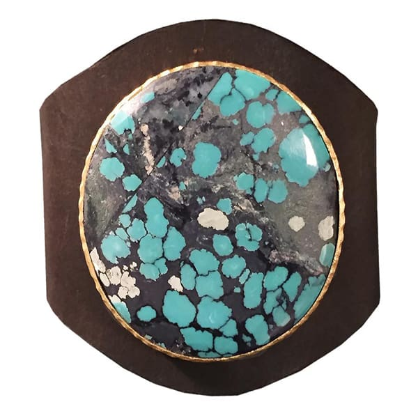 turquoise-leather-cuff