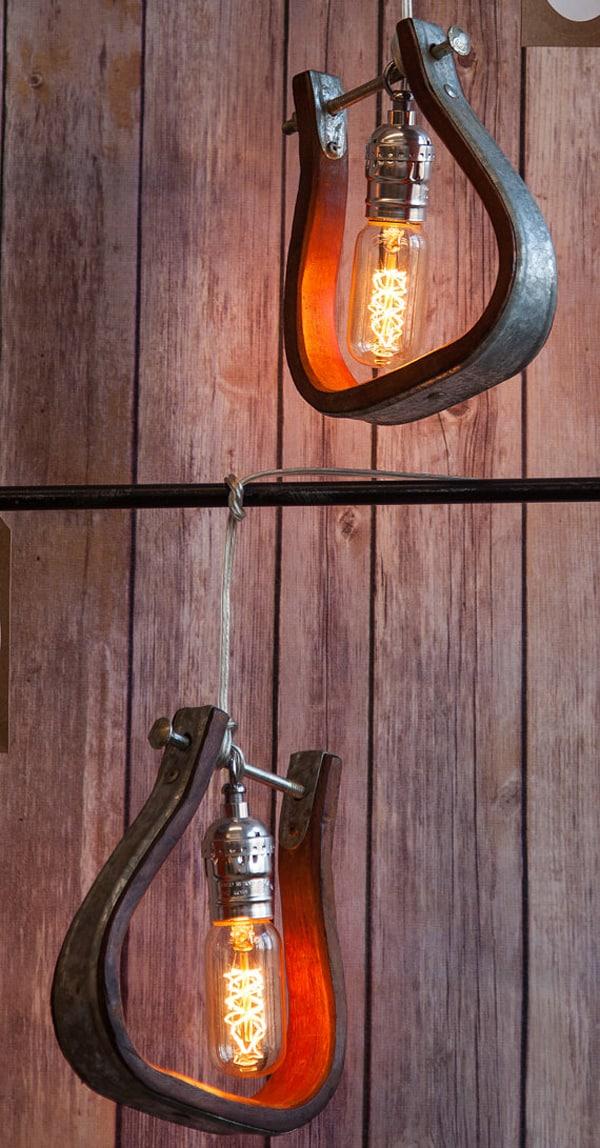Western Pendant Lighting Western home stunning stirrup lighting cowgirl magazine western stirrup pendant lights audiocablefo