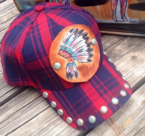 red-plaid-custom-hat