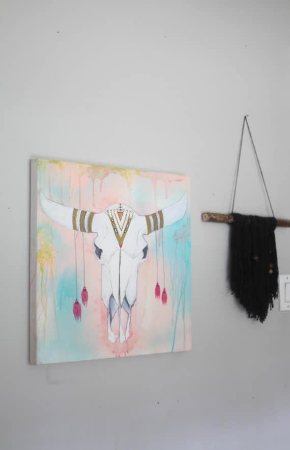 boho-steer-skull-painting