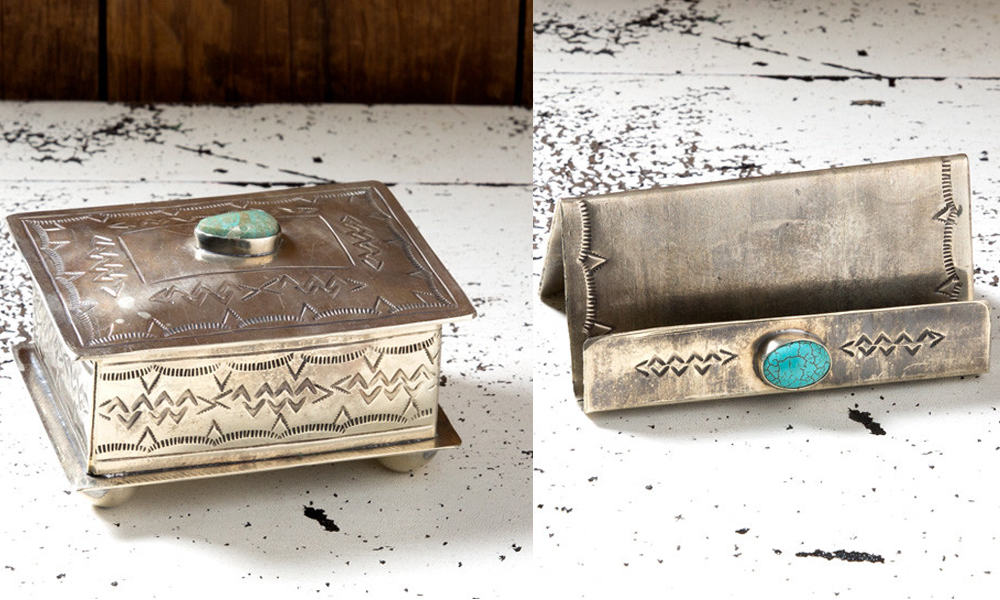 silver-and-turquoise-desk-accessories