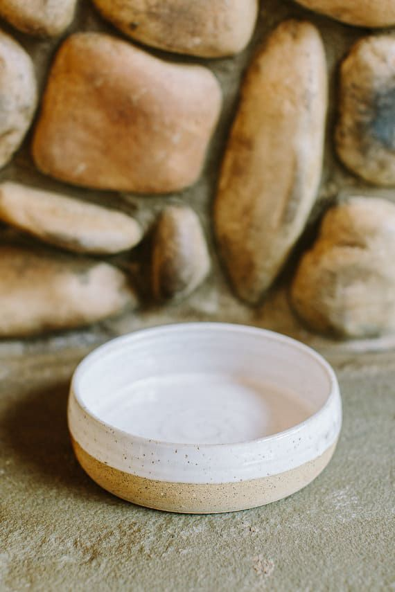 ceramic dog bowl