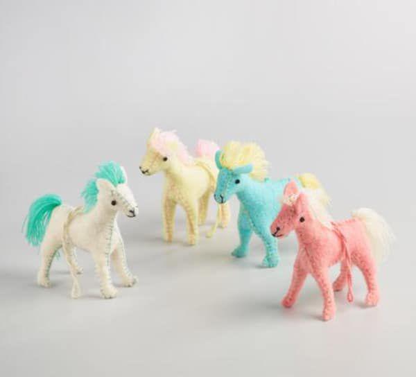 felt-pony-ornaments