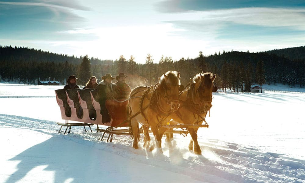 On A One Horse Open Sleigh Ride Cowgirl Magazine