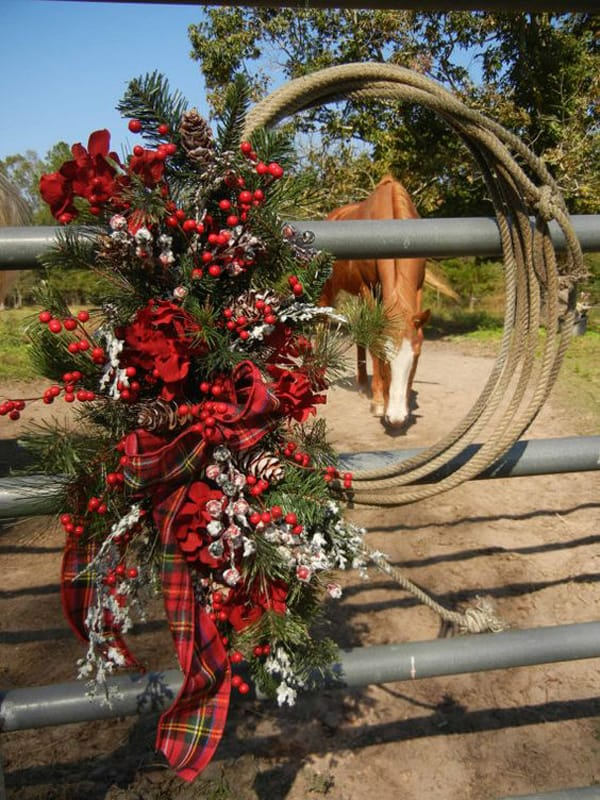 are you in need of some last minute christmas decorations try making a festive western christmas wreath all you need are a few pieces you already have at