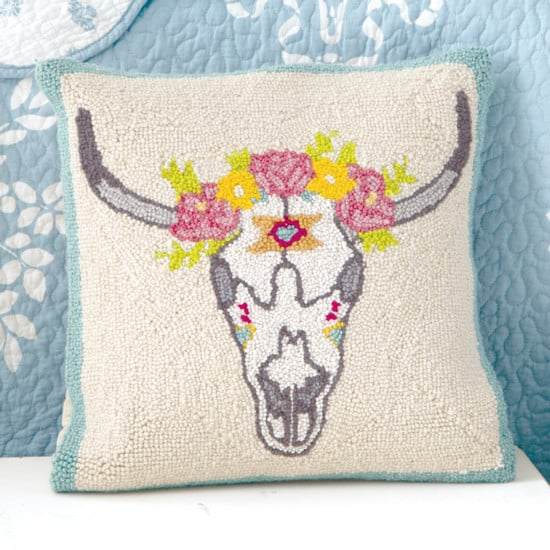 floral hooked pillow