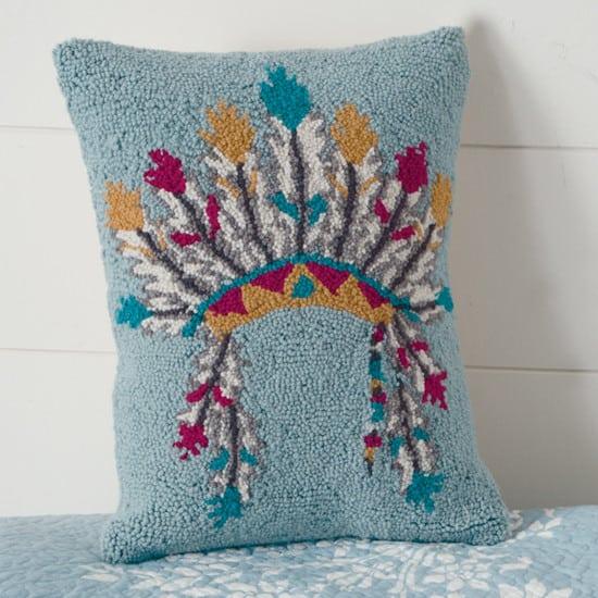 headdress hooked pillow