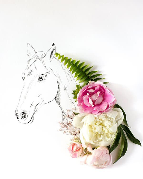 horse-and-flowers