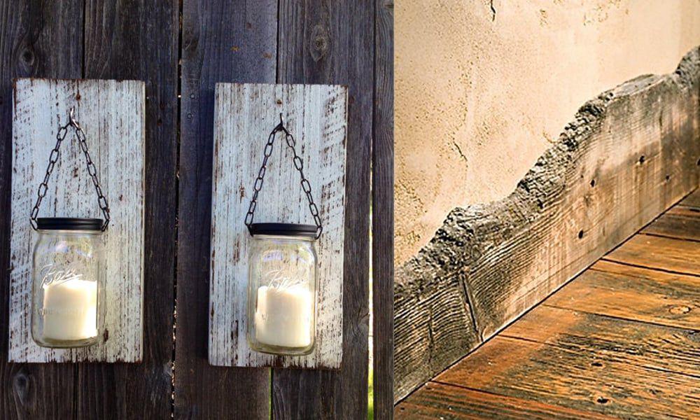 reclaimed wood details
