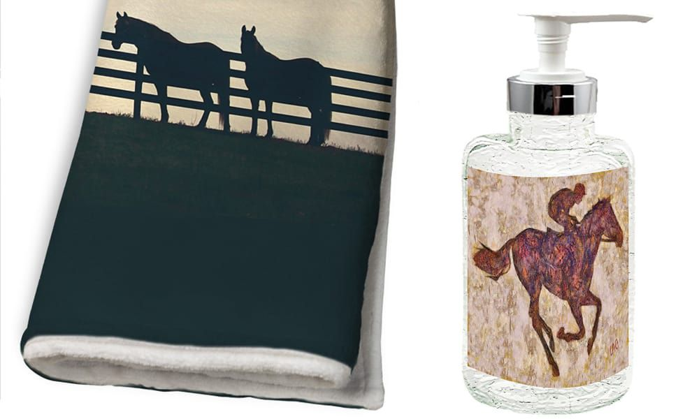 Horse themed bathroom accessories