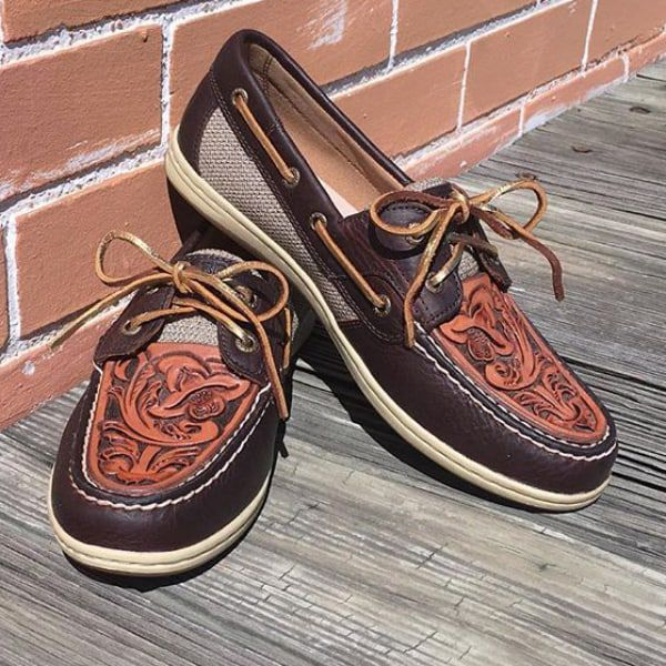 tooled leather sperrys cowgirl magazine