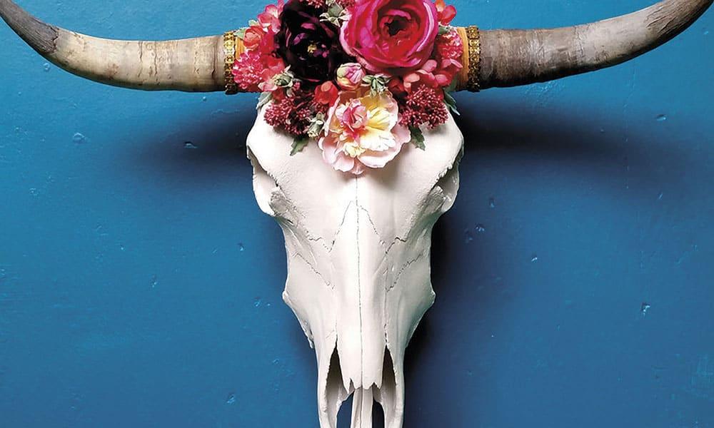 Decor: Floral Cow Skulls & Vivid Blooms - COWGIRL Magazine
