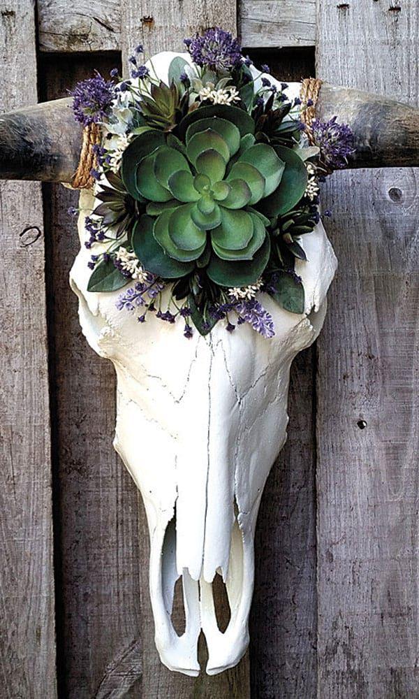 Decor Design Floral Cow Skulls Cowgirl Magazine