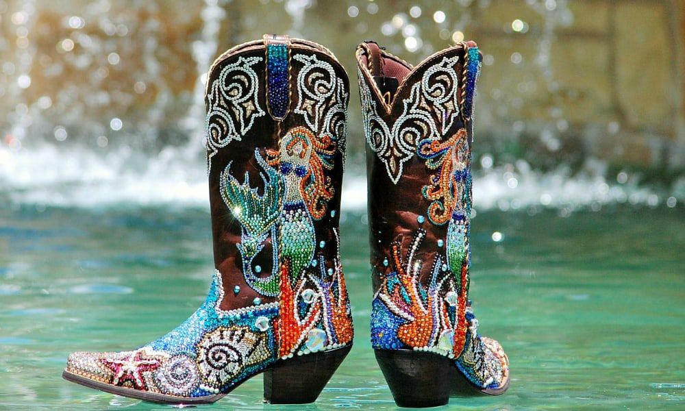bling blinged boots cowgirl magazine